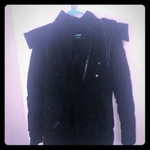 Rudsack women's coat with real coyote fur